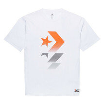 Converse x Tinker Hatfield Star Series Tee 10018580-A01 White/Orange Siz... - $26.34