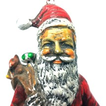 Vintage 1978 Santa Claus Navidad Árbol Ornamento Viejo Mundo Estilo Hong... - $19.99