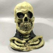 Vintage 1997 Skeleton Rubber Mask With Bone Breast Plate The Paper Magic... - $35.76