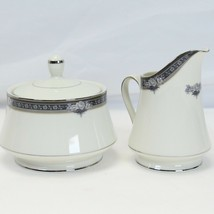 Mikasa Gothic Rose Creamer and Sugar Bowl with Lid - $48.99