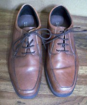 Men's Bostonian Flexlite Size 9 M Oxfords Lace Shoes Brown Leather Lightweight - $20.05
