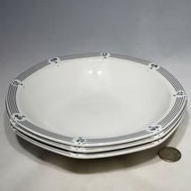 "Set of 3 VTG Royal Doulton Calico Blue 8"" Pasta Soup Bowls England Disco... - $29.95"
