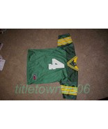 Brett Favre # 4 Green Bay Packers Jersey Youth L Throwback Farve Logo Athletic - $35.99