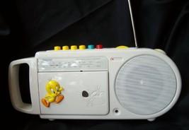 Tweety Bird AM/FM Radio Toshiba Portable LT 401 TWE Cassette Recorder Ka... - $69.28