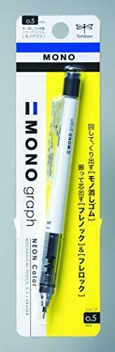 *Tombow Pencil monograph 0.5mm mechanical pencil neon color white DPA-134A image 1