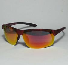 Foster Grant Red Mirrored Sport Sunglasses Polarized Wrap Anti Fog Rim D... - $19.35