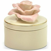 New in Box Lenox Rose Blossom Remembrance Box Porcelain China - $32.66