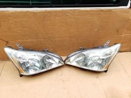 04-09 Lexus RX330 RX350 Halogen Headlight Lamps Set L&R POLISHED image 2