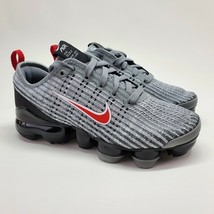 Nike Air Vapormax Flyknit 3 GS Size 4Y PARTICLE GREY RED Sneakers BQ5238... - $137.61