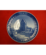 "1950 Royal Copenhagen Danish Porcelain Christmas Plate ""Boeslunde Church"" - $169.00"