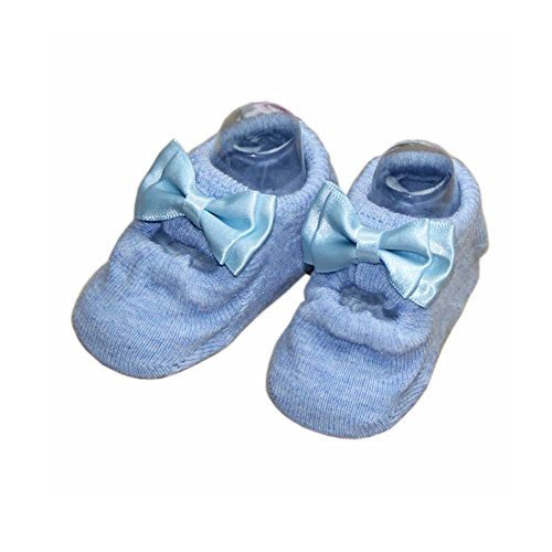 2 Pairs Cotton Baby Socks Baby Girls Socks for 6-18 Month, Blue[B]