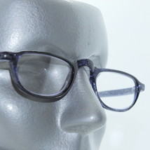 Half Eye Reading Glasses Blue Gray Polished Frame +2.00 Lens Strength - $18.00