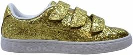 Puma Basket Strap Glitter Gold 364070 02 Women's Size 6.5 - $33.47