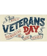 "Veterans Day ""Honoring All Who Served"" - Magnet - $5.99"