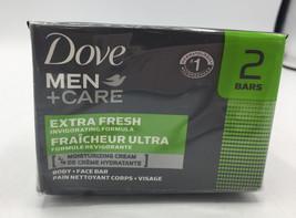 Dove Men+Care Extra Fresh Body and Face Bar 4 oz X 2 Bar - $7.69