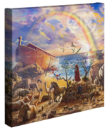 Zac Kinkade Noahs Ark 14 x 14 Galería Envuelto Lienzo - $79.00