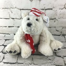 Wishpets Percy Christmas Plush Polar Bear In Scarf And Hat Soft Teddy W/... - $19.79
