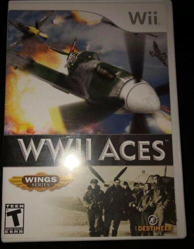 World War 2 WWII WW2 Aces Video Game Destineer Wings Series Nintendo Wii CIB
