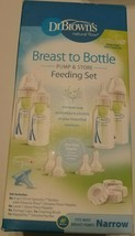 DR BROWNS Breast to Bottle Feeding Set with Slow Flow Nipples - $22.49