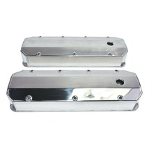 "Chevy GMC Fabricated Aluminum Tall Valve Covers 1/4"" Rail BBC 396 427 454 502"