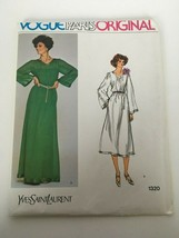 Vogue Paris Original Yves Saint Laurent Sewing Pattern 1320 Evening Dres... - $29.74