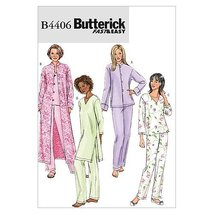 Butterick Patterns B4406 Misses'/Misses' Petite Jacket, Robe, Top, Tunic and Pan - $14.70