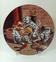 Dalmatian Puppies Hamilton Collection All in a Days Work Plate Where's t... - $21.77