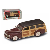 1948 Ford Woody Burgundy 1/43 Diecast Model Car by Road Signature 94251bur - $14.99