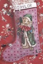 Antique Santa Bear Teddy Christmas Cross Stitch Stocking Kit Candamar 50593 E - $39.95