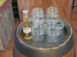 SET OF 7 VERY RARE SIZE MASON JAR 1 cup RICHARDs ON BASE  - $42.59