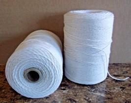 2 Natural Spools 8/4 Poly/Cotton Loom Weaving Rag Rug Carpet Warp Yarn S... - $22.54 CAD