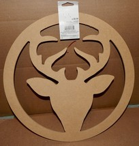 "Christmas Large Deer Wreath You Craft Handmade Holiday's 14"" x 1/4"" Thic... - $6.49"