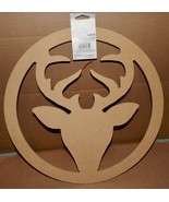 """Christmas Large Deer Wreath You Craft Handmade Holiday's 14"""" x 1/4"""" Thic... - $6.49"""