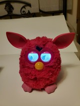 Furby Boom Fuschia Hot Solid Pink Interactive Plush Talking Hasbro Toy Vguc - $24.26