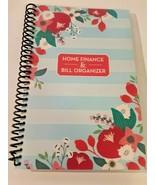 Bill Organizer & Home Finance Book Monthly Pockets Blue Pink Flowers New - $13.85