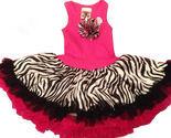 Fun Hot Pink Zebra Chiffon Sleeveless Tutu Dress, 6M-5/6 USA, Cupcakes & Kisses