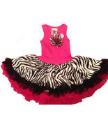 Fun Hot Pink Zebra Chiffon Sleeveless Tutu Dress, 6M-5/6 USA, Cupcakes & Kisses - $49.94 - $52.92