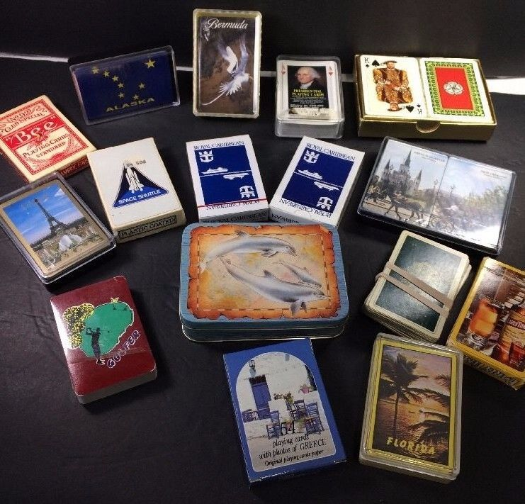 Primary image for Playing Card Decks Florida Greece Alaska Paris Dolphins Coca Cola Bicycle 16 pks