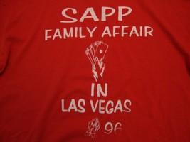 Vintage Sappy Family Affair In Las Vegas Souvenir Red T Shirt Size L - $9.89