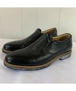 Johnston Murphy Barlow Venetian Black Sheepskin Leather Mens 10 M Slip O... - $54.42