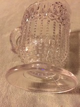 EAPG LOOP WITH DEWDROP CLEAR GLASS CREAMER - US GLASS CO 1892 ANTIQUE GL... - $25.00