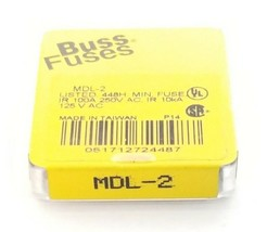 LOT OF 5 NEW COOPER BUSSMANN MDL-2 FUSES MDL2