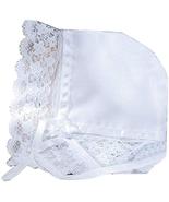 DELUXE BABY CHRISTENING BONNET / HANKY FOR WEDDING - $20.26