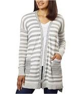 Calvin Klein Jeans CK Cardigan XL Open Front Long Gray Cotton Sweater New - $24.95