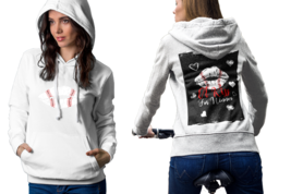 A Kiss For Base ball winner  Womens White Classic Hoodie - $30.99+
