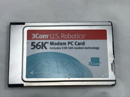 3Com US Robotics Model 3056  56K Modem PC Card  PCMCIA Xjack - $9.60
