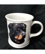 Rottweiler 3 D Coffee  Mug Cup Xpres Best Friend Originals 2004 Barbara Augello  - $21.51