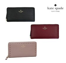 NWT KATE SPADE NEW YORK James NEDA Eyelet Leather Wallet Bilfold Red Bla... - $93.06+