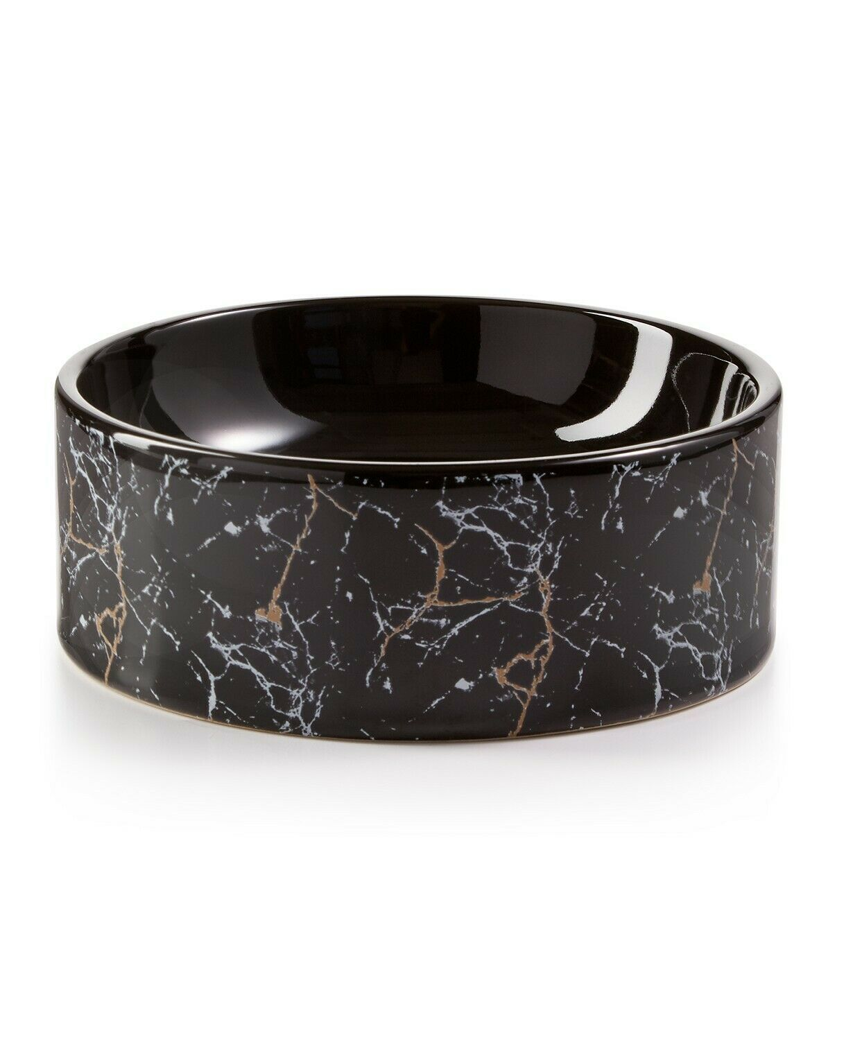 Primary image for Lacourte Pet Black Marble and Embossed Bowl