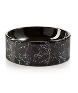 Lacourte Pet Black Marble and Embossed Bowl - $17.10